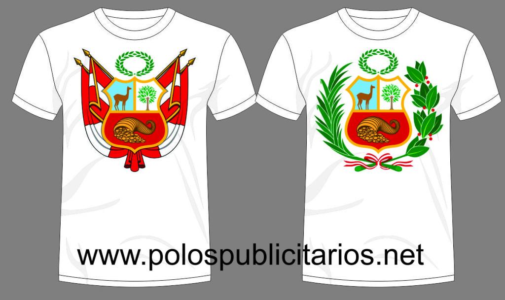 Polos Publicitarios con el Nuevo Escudo del Peru
